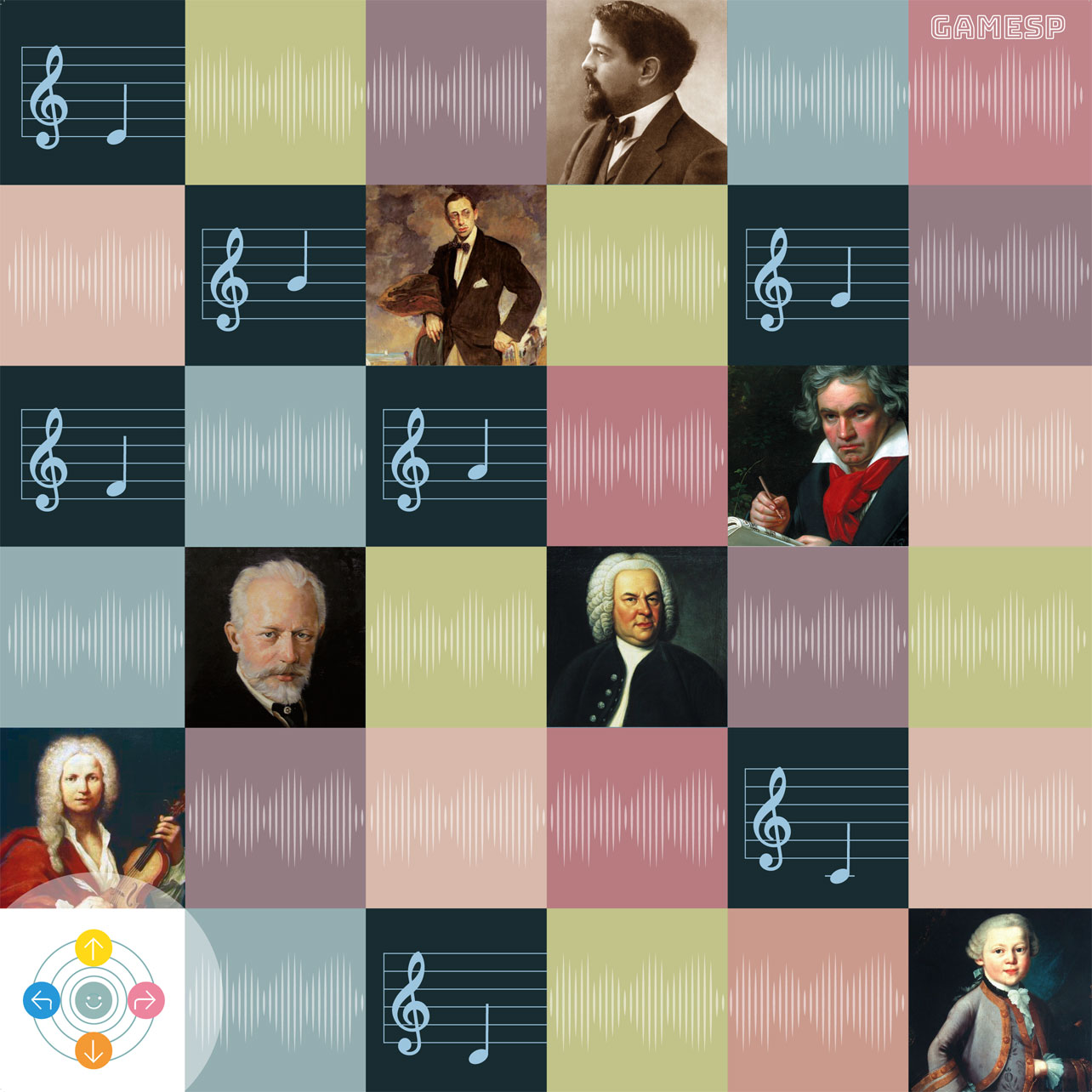 Music notation board